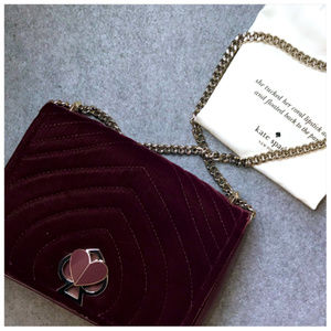 Limited Edition Kate Spade Amelia Velvet Bag